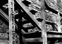 B&W steps w/ Graffiti