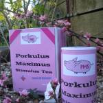 """Porkulus Maximus Stimulus Tea by Derek Phoenix"" by derekphoenix"