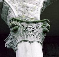 Column with Moss
