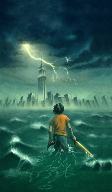 Percy Jackson Book Cover Art : Percy jackson the olympians lightning thief