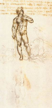 Study of David by Michelangelo Detail 1