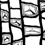 """Black and White Abstract Pattern"" by Lenora"