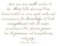 Colossians 1:10-11
