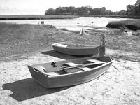 Row Boats At Low Tide