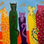 """CATS & STARS"" by mariagreene"