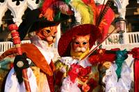 Kitties with Red Violin