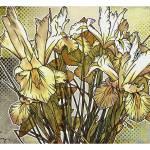 """""""Modern Florals: White Iris"""" by karynlewis"""