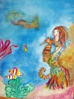 Mermaid and sea life
