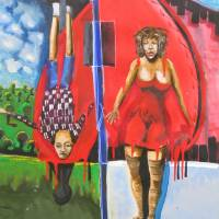 my twin that was raised on another planet Art Prints & Posters by Terry Matarelli