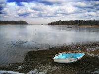 Setauket Harbor Dingy in Winter