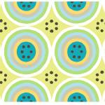 """Circles AB Turquoise and Light Green"" by LeslieTillmann"