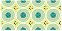 Circles AB Turquoise and Light Green