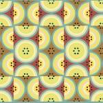"""Circles Olive Yellow AB yellow, green and browns"" by LeslieTillmann"