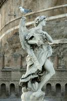 statue of an angel at Sant'Angelo castle in Rome
