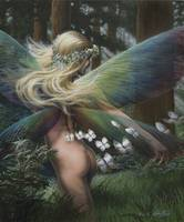 Fairy in the Woods with Butterflies