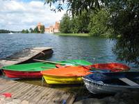 Trakai - lake, boats, castle