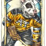 """Benny ""The Bull"" Terrier"" by camwilsonhockeyart"