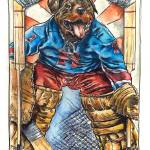 """Rodd Weiler - The Dog Days of Hockey"" by camwilsonhockeyart"