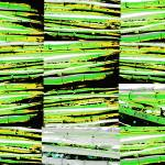 """Horizontal bamboo 1 green"" by LeslieTillmann"