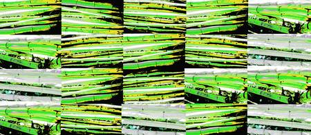 Horizontal bamboo 1 green