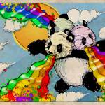 """The Rainbow Vomiting Pandas Of Interestingness"" by poprelics"
