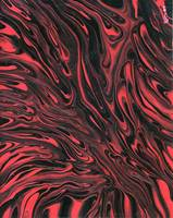 Flowing Red Nebula Abstract