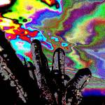 """""""Psychedelic Wild Ice abstract fingers sky dog"""" by BuehlStuff"""