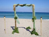 Romantic Wedding Archway by the Sea