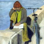 """Woman Reading"" by PeterWorsley"
