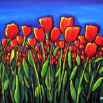 """Field of Red Tulips"" by reniebritenbucher"