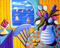 Still Life with Tulips and Sailboats