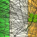 """irish flag with four-leaf clover"" by DCLWolf"