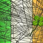 """irish flag with four-leaf clover"" by DCLWolf"