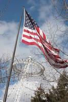 American Flag Waves over the Spokane Pavilion by Carol Groenen
