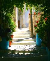 Shady walk in Old Town Naxos