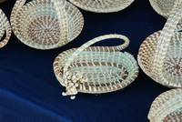 Sweetgrass basket with handle