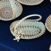 Sweetgrass basket with handle Art Prints & Posters by Lee SILL