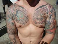 HOT MAN TATS at the FOLSOM STREET FAIR-  men folso