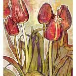 """""""Modern Florals: Tulips"""" by karynlewis"""