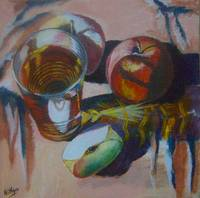 Apples and Glass #5 - Completed