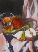 Apples and Glass #8 - Completed