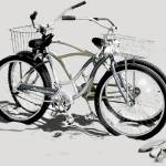 """Bikes on the Beach Gray"" by LeslieTillmann"