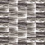 """Bamboo Vertical Variation 10 gray"" by LeslieTillmann"
