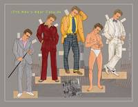 1973 Men's Wear Fashion, a paper doll set