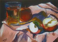 Apples and Glass #7 - Completed