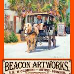 """Riccoboni Paintings Old Town San Diego Poster"" by BeaconArtWorksCorporation"