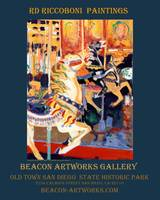 Riccoboni Carousel poster Beacon Artworks Gallery