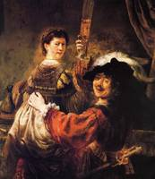 Rembrandt and Saskia