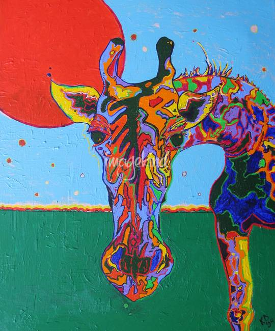 Surrealism giraffe artwork for sale on fine art prints for Art print for sale
