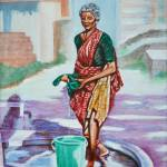 """Woman washing clothes"" by shantharam"
